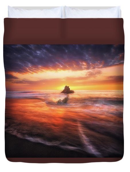 The Flaming Rock Duvet Cover