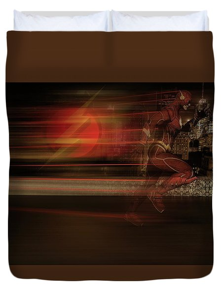 Duvet Cover featuring the digital art The Flash  by Louis Ferreira