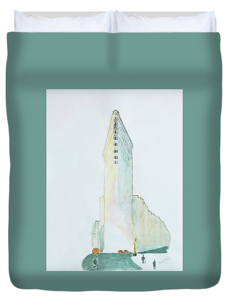 The Flat Iron Building Duvet Cover