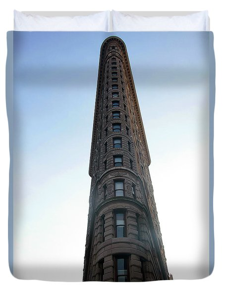 Duvet Cover featuring the photograph The Flatiron - Manhattan by Madeline Ellis