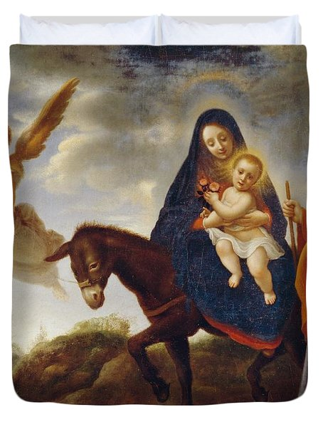 The Flight Into Egypt Duvet Cover by Carlo Dolci