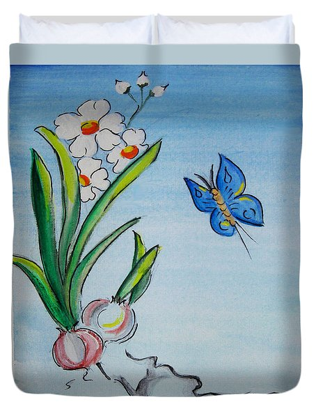 The Flight Of The Butterfly Duvet Cover