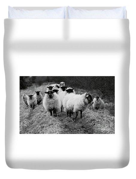 The Flock 1 Duvet Cover