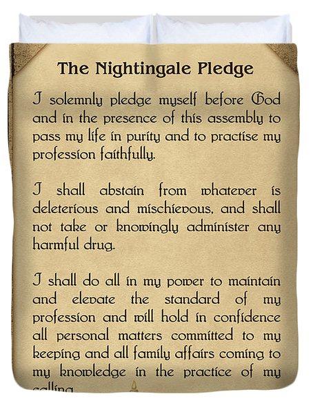 The Florence Nightingale Pledge 1893 Duvet Cover
