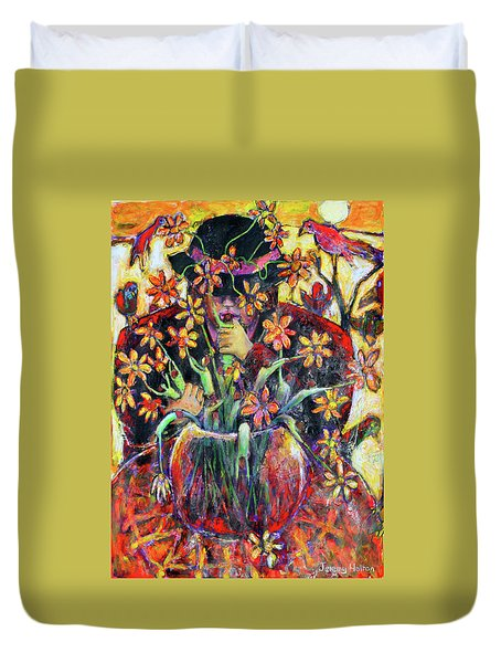 The Flower Arranger Duvet Cover