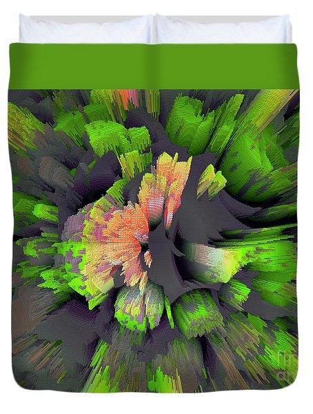 The Flower Factory 2 Duvet Cover by Moustafa Al Hatter