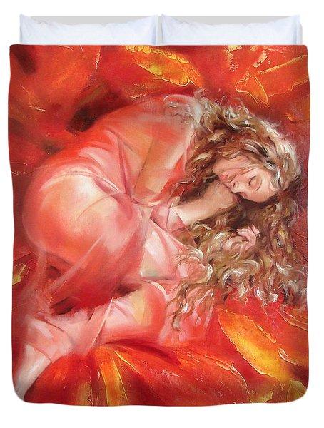 The Flower Paradise Duvet Cover by Sergey Ignatenko