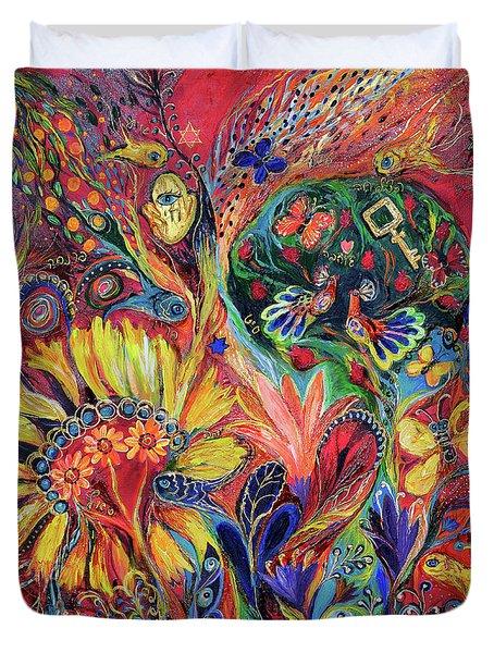 The Flowering Duvet Cover by Elena Kotliarker