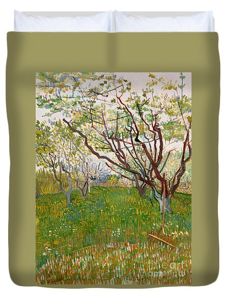 The Flowering Orchard, 1888 Duvet Cover by Vincent Van Gogh
