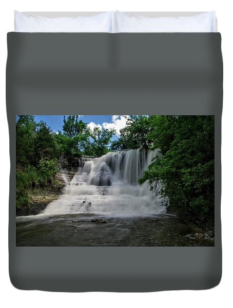 The Flowing Falls Duvet Cover