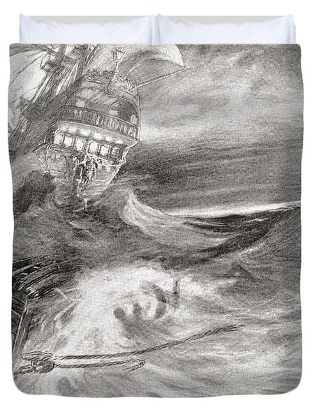 The Flying Dutchman. A Ghost Ship That Duvet Cover