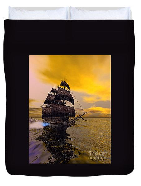 The Flying Dutchman Duvet Cover by Corey Ford
