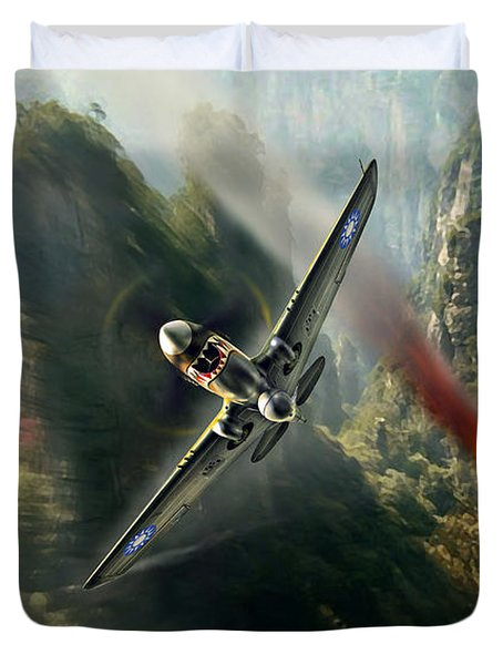 The Flying Tigers Duvet Cover