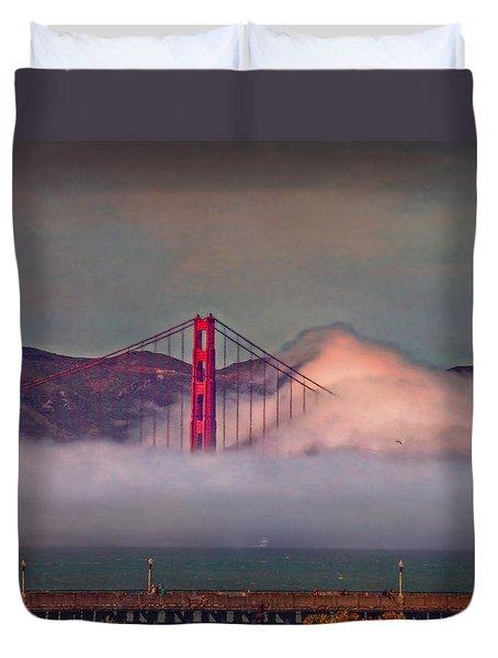 The Fog Duvet Cover by Hanny Heim