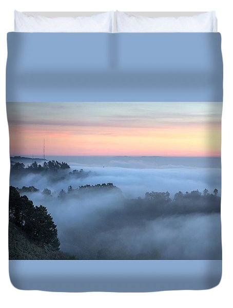 The Fog Kept On Rolling In Duvet Cover