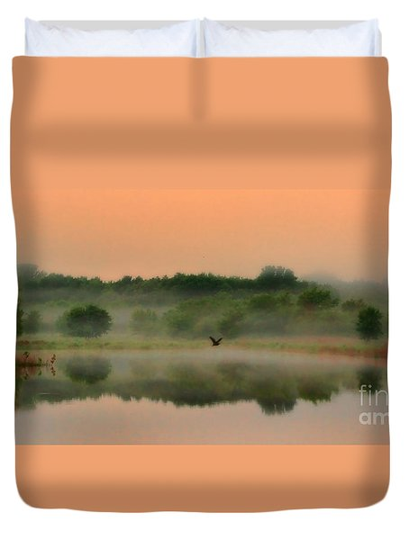 The Fog Of Summer Duvet Cover by Elizabeth Winter