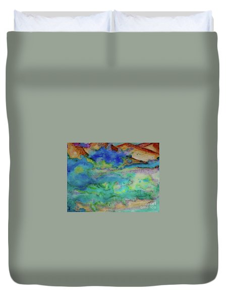 The Fog Rolls In Duvet Cover by Kim Nelson