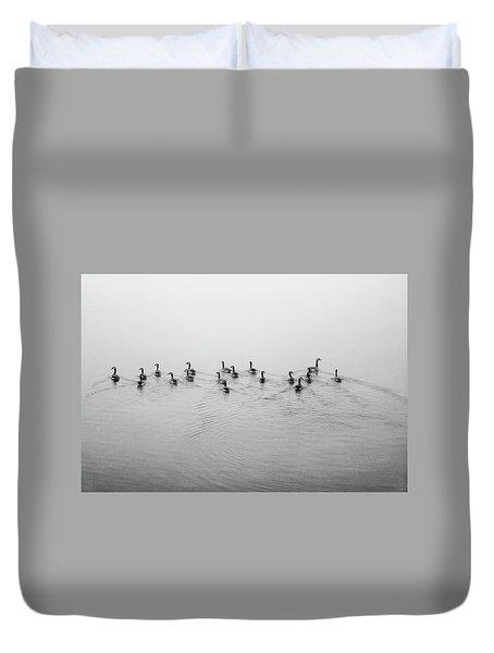 The Foggy Passage Duvet Cover