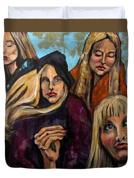 The Folk Singer Duvet Cover by Barbara O'Toole