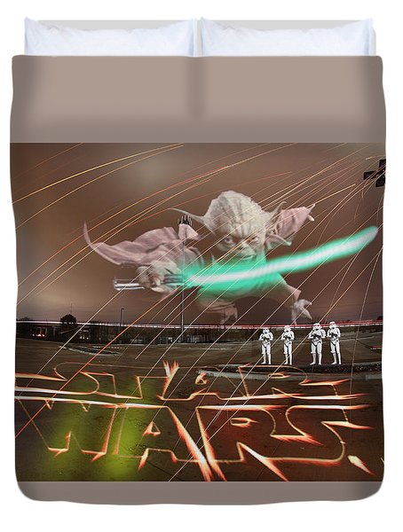The Force Awakens Duvet Cover by Andrew Nourse
