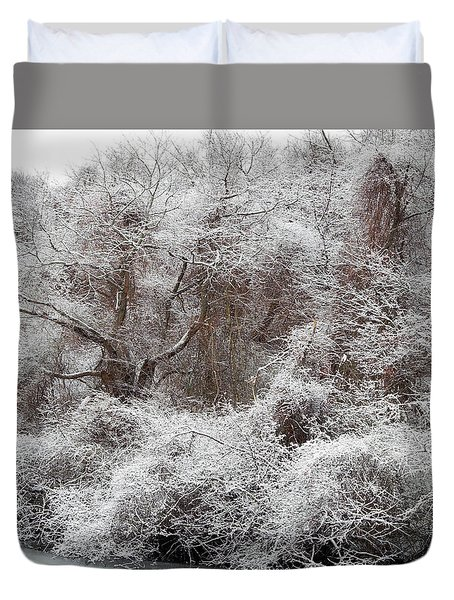 Duvet Cover featuring the photograph The Forest Hush by Lynda Lehmann