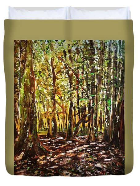 La Foret Du Mount Beuvray Duvet Cover by Belinda Low