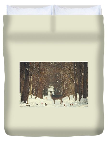 The Forest Of Snow White Duvet Cover by Carrie Ann Grippo-Pike