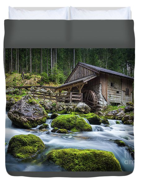 The Forgotten Mill Duvet Cover by JR Photography