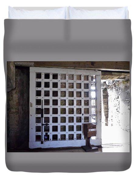 The Fort Door Duvet Cover by D Hackett