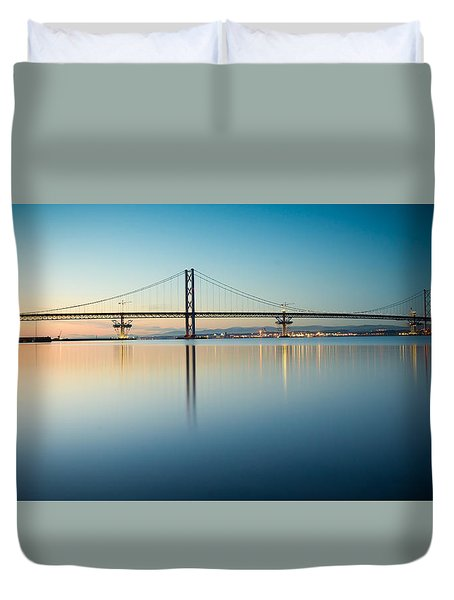 The Forth Road Bridge Duvet Cover by Ray Devlin
