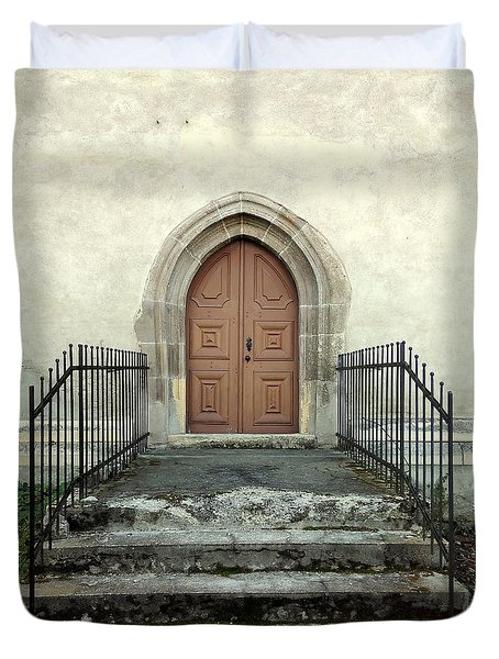 The Fortress Church's Side Door  Duvet Cover
