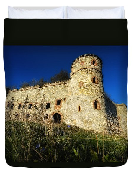 Duvet Cover featuring the photograph The Fortress - La Fortezza by Enrico Pelos
