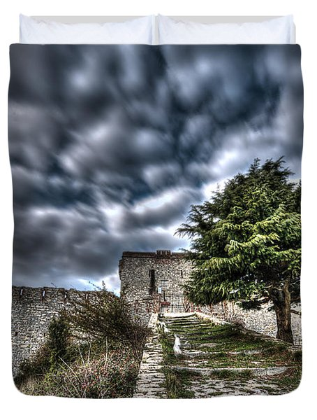 The Fortress The Tree The Clouds Duvet Cover