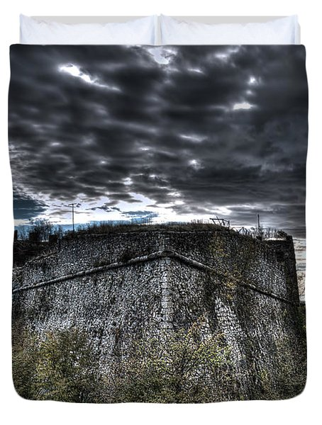 The Fortress The Trees The Clouds Duvet Cover