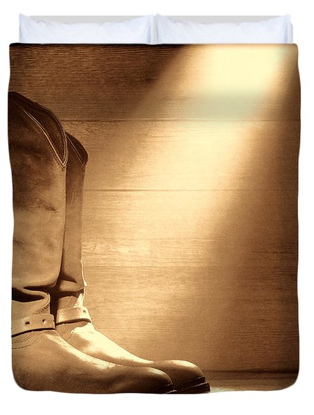 The Found Boots Duvet Cover