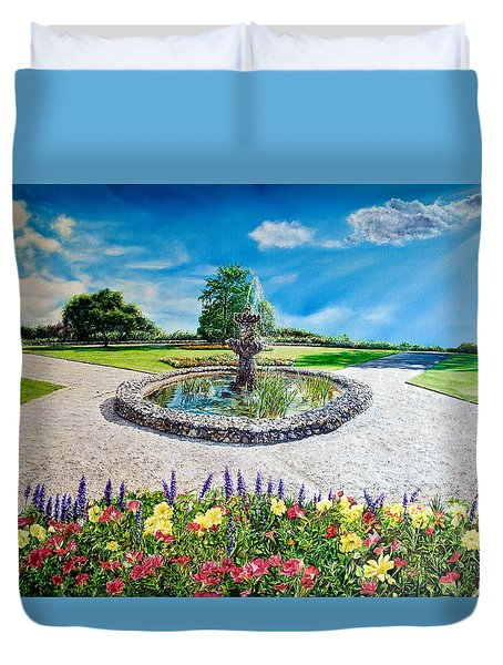 Gushing Fountain Duvet Cover