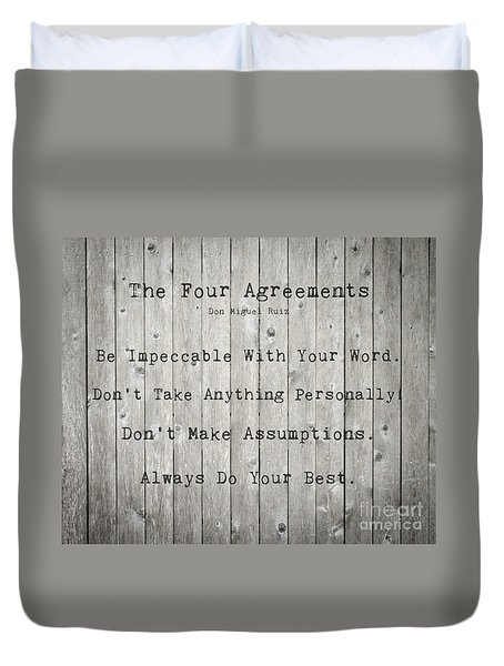 The Four Agreements 12 Duvet Cover