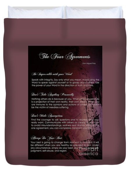 The Four Agreements 3 Duvet Cover