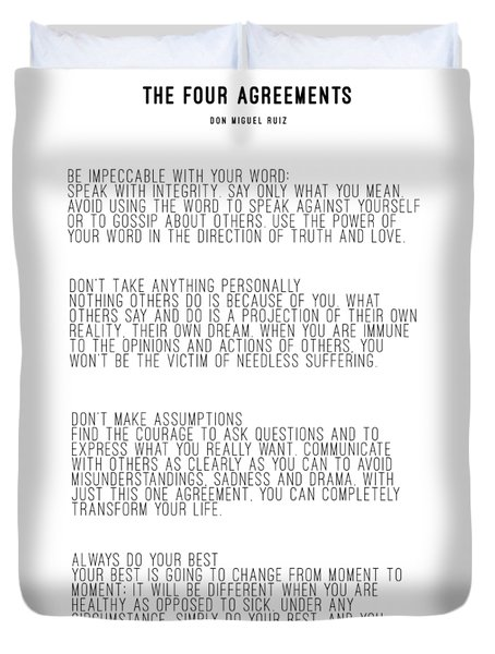 The Four Agreements 5 Duvet Cover
