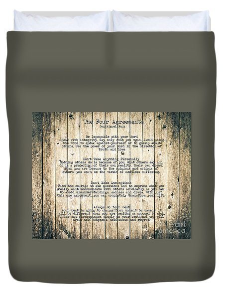 The Four Agreements 8 Duvet Cover