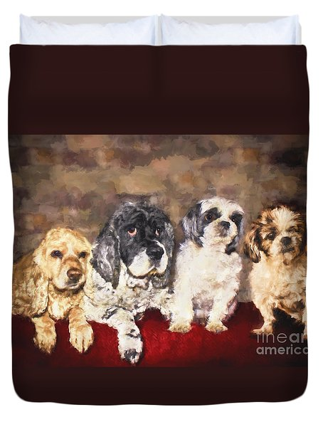 The Four Amigos Duvet Cover