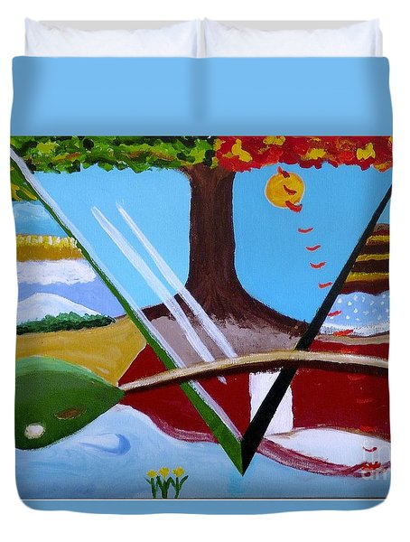 The Four Seasons Duvet Cover by Rod Ismay