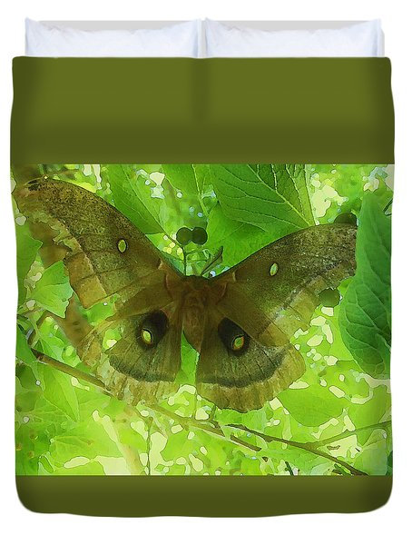 Duvet Cover featuring the digital art The Fourth Day-a Dying Giant.. by Shelli Fitzpatrick