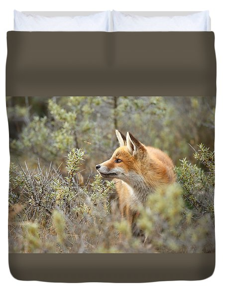 The Fox And Its Prey Duvet Cover by Roeselien Raimond