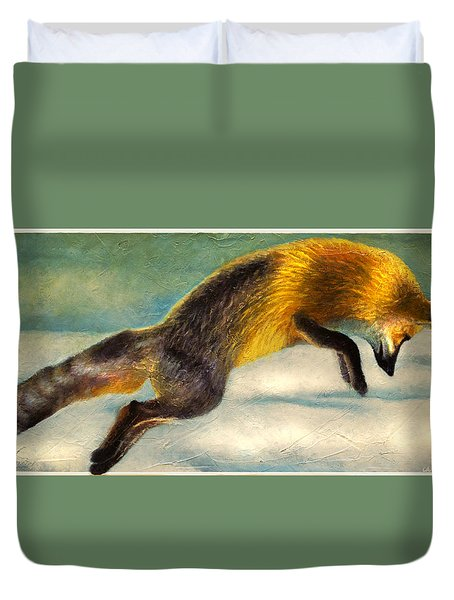 The Fox Hop Duvet Cover
