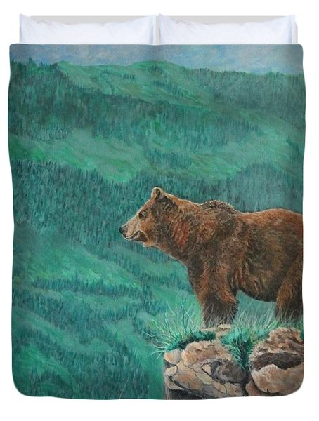 The Franklin Grizzly Bear Duvet Cover