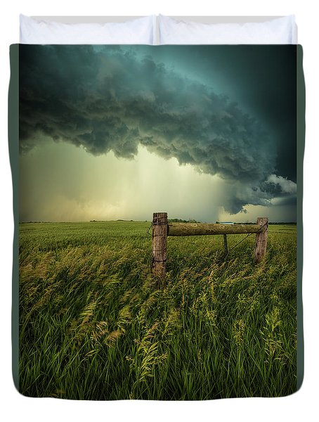 Duvet Cover featuring the photograph The Frayed Ends Of Sanity  by Aaron J Groen