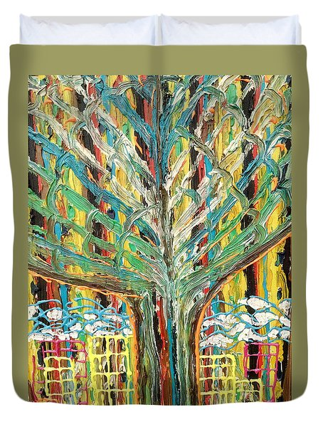 The Freetown Cotton Tree - Abstract Impression Duvet Cover