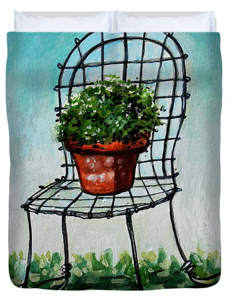 The French Garden Cafe Chair Duvet Cover