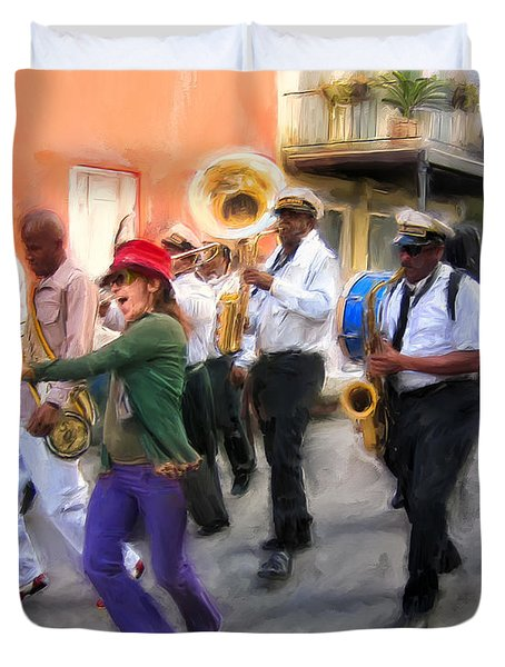 The French Quarter Shuffle Duvet Cover